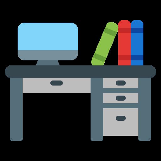 imagen de escritorio y libros