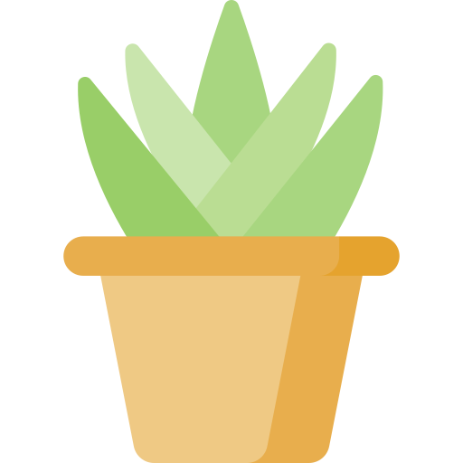 maceta con planta en vectores